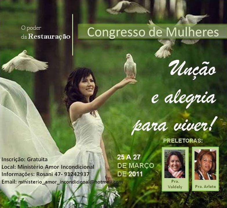 Ministério Amor Incondicional - Congresso de Mulheres